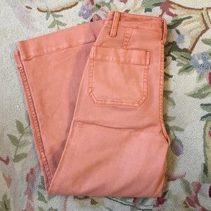 Rose wash wide leg jeans from Madewell.